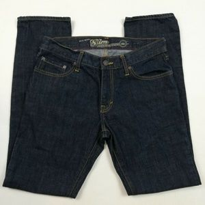 Old Navy Mens Slim Fit Dark Washed Blue Jeans Size